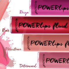 Powerlips fluid - long wearing lipstick with NO ALCOHOL! Lip Gloss Colors, Lipstick Colors, Lip Colors, Makeup Lipstick, Nu Skin, Lip Plumping Balm, Bronzing Pearls, Kiss Proof Lipstick, Skin Care