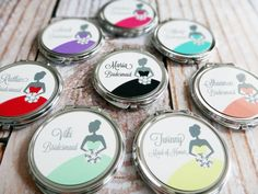 Personalized Bridesmaid Gift Compact Mirror by GreenLarkCompacts