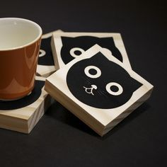 wood block coaster