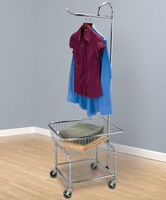 Rolling Laundry Butler Basket Cart Wheels Hanging Bar Clothes Rack Organizer New in Home & Garden, Household Supplies & Cleaning, Laundry Supplies, Clotheslines & Laundry Hangers Laundry Cart, Laundry Storage, Laundry Hamper, Laundry Rooms, Bathroom Laundry, Laundry Tips, Mud Rooms, Small Laundry, Washroom