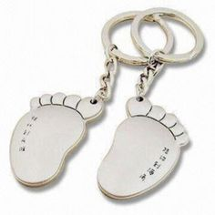 Fashionable Design Lover Feet Shaped Keychains