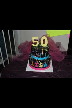 80s themed cake for 50th birthday