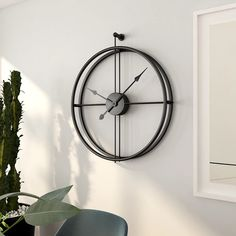 Large Nordic Style Creative Fashion Iron Wall Clock Modern Design Mute Clocks for Home Decor Office Hanging Wall Watch Clocks Minimalist Wall Clocks, Minimalist Decor, Minimalist Design, Wall Clock Design, Clock Wall, Large Wall Clocks, Clock Decor, Wall Clock Without Frame, Giant Wall Clock