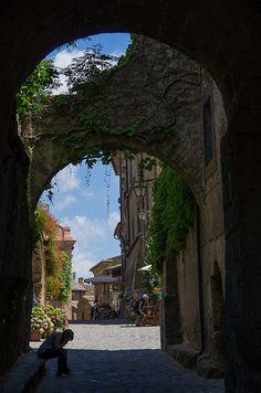 Entrance to Civita,Bagnoregio,Latium,Italy