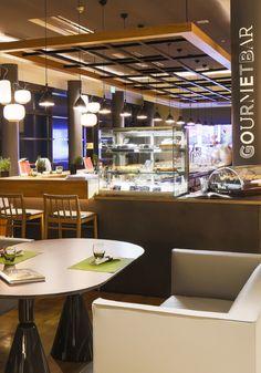 Gourmetbar Novotel Munich, Kitzig Interior Design by Kitzig Design Studios  restaurant Lobby Bar, München City, Design Bar Restaurant, Hotels, 2017 Design, Design Studio, Studios, Lamp Design, Architecture