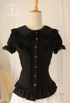 ♥圆点点小姐♥甜蜜派对—可爱蕾丝小圆领衬衫lolitar复古♥-淘宝网