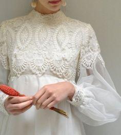 ヴィンテージウェディングドレス 171906497174 60s EmmaDombトレーン付き