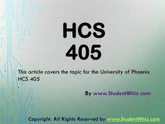 Hcs 405 week 2 health care financial terms worksheet paper  www.StudentWhiz.com Understanding HCS 405  Health Care Financial Terms Worksheet Paper is a prerequisite for both academic and professional success. This assignment is intended to ensure you understand some of the basic terms used in this course.