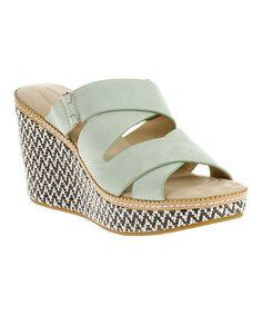 Look what I found on #zulily! Light Aqua Allie Dalten Nubuck Leather Sandal #zulilyfinds