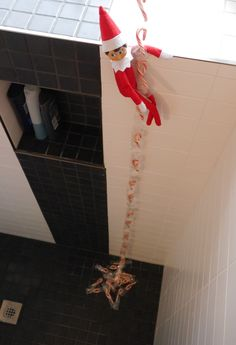 Creative elf idea for your shower.