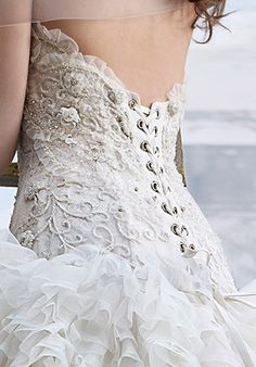 I want my wedding dress to have a corset back. That way I can gain weight. That was a joke.