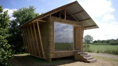 """Designed by a group of young French architects from Studio 1984, the """"Nest"""" is a compact home concept that is reminiscent of a traditional barn. The eco-home, which was conceived as part of the Archi<20 competition for low-cost, environmentally-friendly architecture in France, incorporates a simple quadratic structure that has been built using pastoral materials such as straw and wood."""