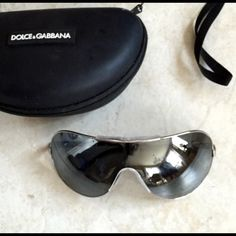 """Authentic D&G by Dolce & Gabbana Sunglasses!!! An Amazing Pair of Sunnies for Any True Sunglass-Lover ! They r Big, Authentic D&G, w/a Silver Rim & """"D&G"""" printed on Both Sides. Absolutely FAB! I was debating whether i should Sell These Babies or Not, but I have so many pairs of Sunnies,I figured id List em to see if Anyone else can give em a Home & perhaps Get more Wear outta them! They are too Gorgeous to be sitting in my closet! Comes w/ Dolce & Gabbana Black Case! Any Questions?...Ask…"""