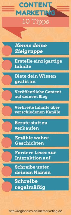 10 Tipps content Marketing