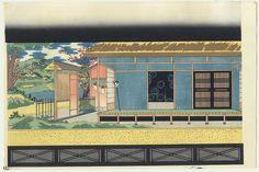 Bunraku Puppet Stage Setting for Osome Hisamatsu by Konobu (1914 - )