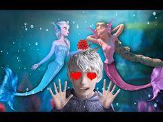 Jack Frost loves Mermaids ELSA and RAPUNZEL - YouTube