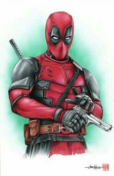 #Deadpool #Fan #Art. (Deadpool) By: Supershinobi. (THE * 5 * STÅR * ÅWARD * OF: * AW YEAH, IT'S MAJOR ÅWESOMENESS!!!™) [THANK U 4 PINNING!!!<·><]<©>ÅÅÅ+(OB4E)