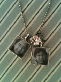 Personalized photo pendant.  Easy to make.  Makes a nice gift for the holidays!