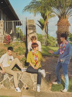 O, Baekhyun, Kai, Sehun - 190911 Fourth official photobook 'PRESENT ; the moment' Credit: Chanbaek, Exo Ot12, Kaisoo, Kyungsoo, Chanyeol, Exo Lockscreen, Kim Minseok, Xiuchen, Exo Korean