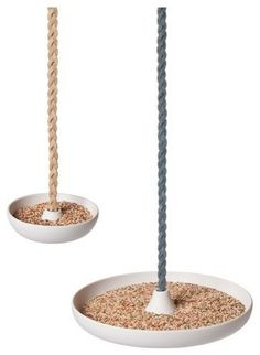 Bird feeder - use an appetizer tray from good will!