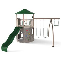 Lifetime Playground Equipment - 90440 Adventure Tower Play Set in Earth Tones.  This picture shows the playground at another different angle.