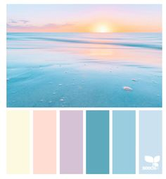 Heavenly Hues by Design Seeds. Pastel color palette that is perfect for the beginning of Spring. Palette Design, Color Schemes Design, Color Schemes Colour Palettes, Colour Pallette, Color Palate, Pastel Pallete, Beach Color Schemes, Beach Color Palettes, Color Combinations