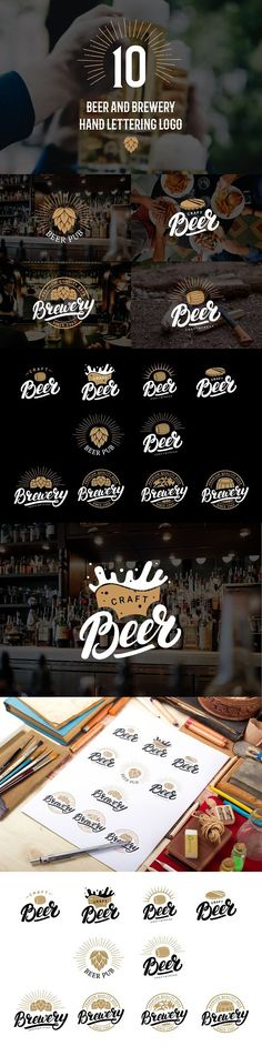 Beer and brewery logo set. Objects. $10.00