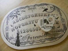 """Wood """"Dread"""" Spirit Board and Planchette Witch Board, Tarot Card Meanings, Spirited Art, Vintage Halloween, Halloween 2, Fortune Telling, Samhain, Witchcraft, Boards"""