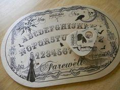 """Wood """"DREAD"""" Spirit Board and Planchette #037 / Ouija / Talking Board - OVAL"""