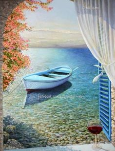 A Poem of the Sea - Original Oil Painting on canvas gy Miki Karni painting A sea of love. Delicate nude painting Romantic and colorful - by Miki Karni Oil Painting On Canvas, Canvas Art, Painting Doors, Gouache Painting, Spray Painting, Painting Inspiration, Landscape Paintings, Oil Paintings, Watercolor Art