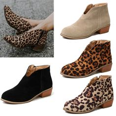 0af37593768 Fashion Women V Cut Low Block Heel Pointed Toe Ankle Boot Booties Shoes Size