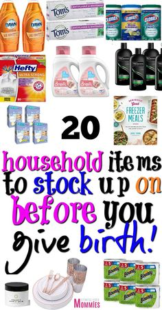 Non-baby items you forgot to stock up on before baby arrives - In your third trimester and ready to give birth? Check out these 20 super important non baby items - Before Baby, After Baby, List Of Household Items, Baby Toys, Pregnancy Information, Preparing For Baby, Getting Ready For Baby, Baby List, List For New Baby