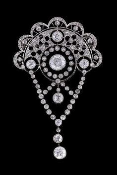 A diamond Belle Epoque brooch, circa 1910, the by SayaValentine