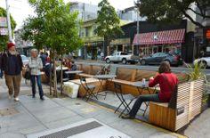Parklet on Haight Street, San Francisco. Click on image for details & visit the slowottawa.ca boards >> http://www.pinterest.com/slowottawa