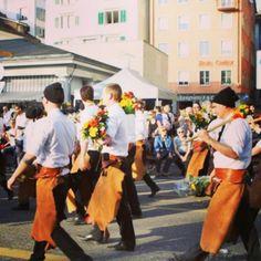 Swiss men, Secheläuten, Swiss Tradition