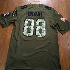 48ab72ba3 Dez Bryant  88  Dallas Cowboys Salute To Service Jersey Mens Size L from   20.99