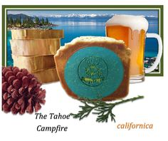 The Tahoe Campfire Soap made with pine and beer! Natural and handmade soap! #soap #handmade #tahoe #californica #beersoap #pine #natural #campfire #smoky