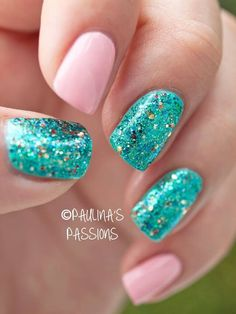 shimmering sea green & pinks @paulinaspassions