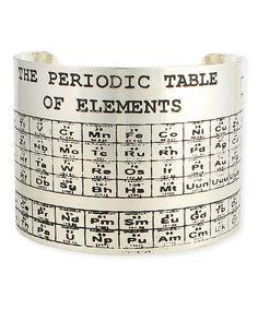 Silvertone Periodic Table Cuff