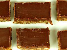 Batony orzechowe z polewą czekoladową (anty-candida, bez cukru, bez glutenu)