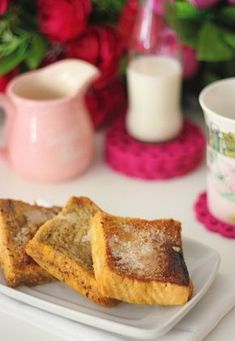 Torrijas rápidas en microondas Micro Onde, Tostadas, Superfood, Microwave, French Toast, Sandwiches, Food And Drink, Snacks, Gastronomia