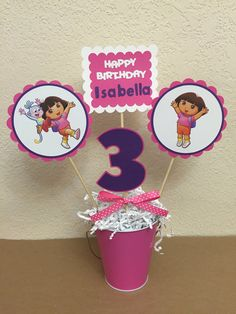 Dora the Explorer Birthday Centerpiece Dora by TheGirlNXTdoor