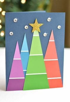 Weihnachtskarten selber basteln diy ideen muster