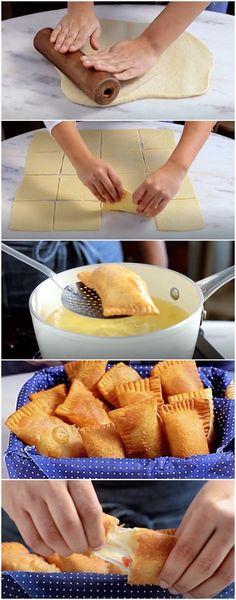 Pastelzinho de Minuto, fácil demais e delícia demais! (veja a receita passo a passo) #pastel #delicia #receita #gastronomia #culinaria #comida #delicia #receitafacil