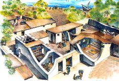 Village Life: A village house.