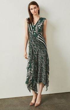 10cb48308f2 BCBGMaxazria Floral Blooms Asymmetrical Dress