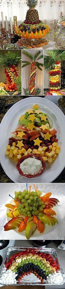 (1) theme - Beautifully decorated fruit plates    TASTY go!