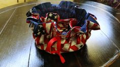 Patriotic Drawstring Jewelry Pouch by JustSewUnique on Etsy