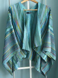Handwoven Jacket / Shawl / Large / Plus Size / by barefootweaver