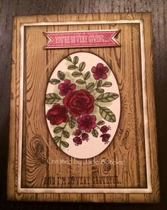 So very grateful woodgrain card Created by Jade Boteler